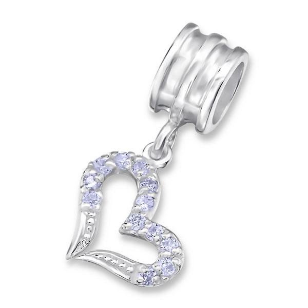 Stříbrný korálek na Pandora náramek se zirkony