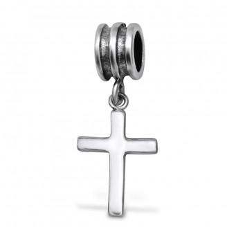 """Korálek stříbrný na Pandora náramek """"Křížek"""". II. Ag 925/1000"""