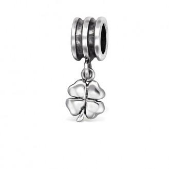"""Stříbrný přívěsek na Pandora náramek """"Čtyřlístek"""". Ag 925/1000"""