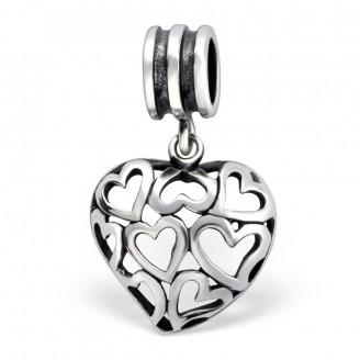 "Korálek stříbrný na Pandora náramek ""Amour"". Ag 925/1000"