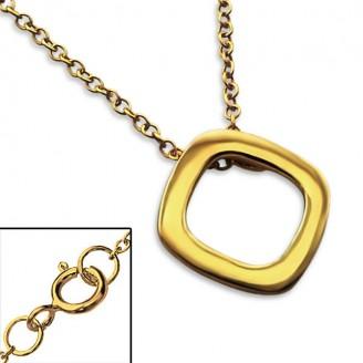 """Stříbrný náhrdelník, pozlacený """"Osha"""" gold. Ag 925/1000"""