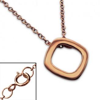 """Stříbrný náhrdelník, pozlacený """"Osha"""" rose gold. Ag 925/1000"""