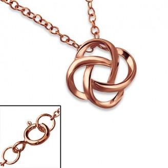 """Stříbrný náhrdelník, pozlacený """"Věčnost"""" rose gold. Ag 925/1000"""