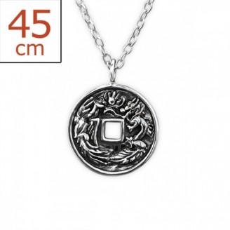 """Stříbrný náhrdelník """"Mince"""". Ag 925/1000"""