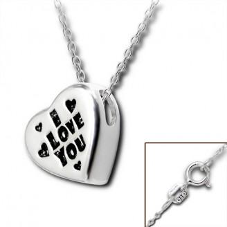 """Stříbrný náhrdelník """"I LOVE YOU 3"""". Ag 925/1000"""