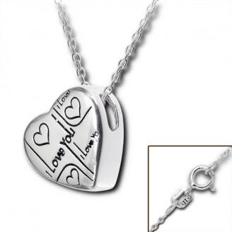 """Náhrdelník stříbrný """"I LOVE YOU 1"""". Ag 925/1000"""