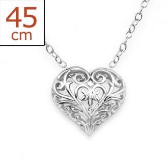 "Stříbrný náhrdelník ""Láska"". Ag 925/1000"