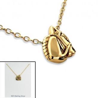 """Stříbrný náhrdelník pozlacený """"Horse"""". Ag 925/1000"""