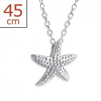 """Náhrdelník stříbrný """"Mořská hvězda"""". Ag 925/1000"""