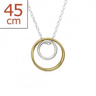 "Stříbrný náhrdelník pozlacený ""Aspicio"". Ag 925/1000"