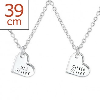 """Dětské náhrdelníky stříbrné """"Moje sestra a já"""". Ag 925/1000"""