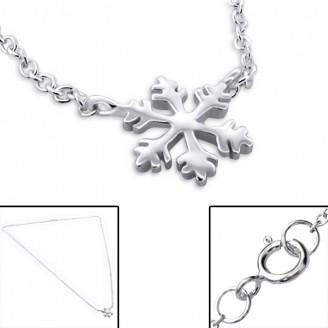 """Náhrdelník stříbrný """"Sněhová vločka"""". Ag 925/1000"""
