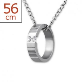 """Ocelový náhrdelník z chirurgické oceli """"Cristallum"""""""