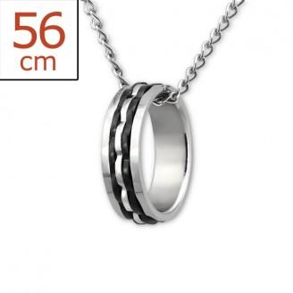 """Ocelový náhrdelník z chirurgické oceli """"Libertatem"""""""