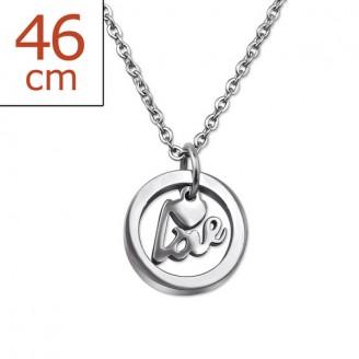 """Ocelový náhrdelník z chirurgické oceli """"Cupiens"""""""
