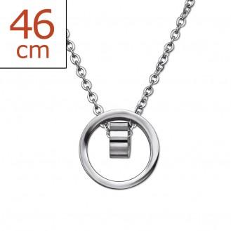 """Ocelový náhrdelník z chirurgické oceli """"Ventus"""""""