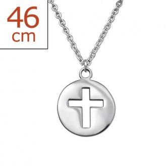 """Ocelový náhrdelník z chirurgické oceli """"Crucis"""""""