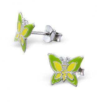 """Dětské stříbrné náušnice """"Motýli"""". Ag 925/1000"""