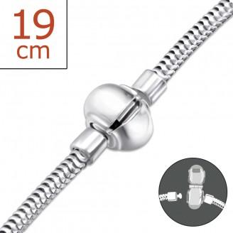 """Stříbrný náramek """"Praeclarum"""". 3x19. Ag 925/1000"""