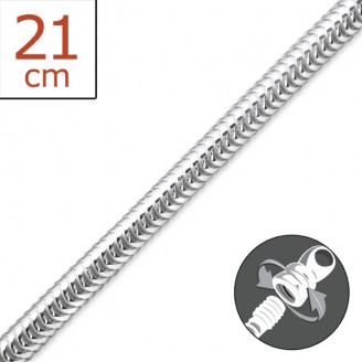 "4x21 Stříbrný náramek ""Klasik"". Ag 925/1000"
