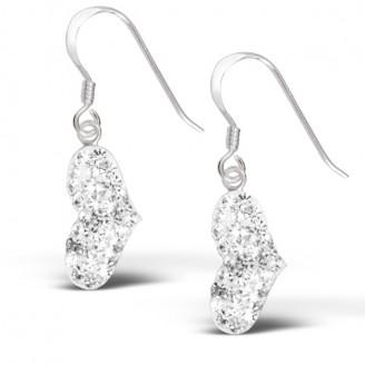 """Stříbrné náušnice s krystaly """"Fedele"""" visací. Ag 925/1000"""