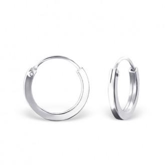 """1,5x12 Stříbrné kruhové náušnice """"Beáta"""". Ag 925/1000"""