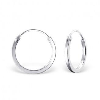 """Stříbrné kruhové náušnice """"Beáta"""". 1,5x16. Ag 925/1000"""