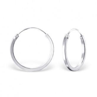 """Stříbrné kruhové náušnice """"Beáta"""". 1,5x18. Ag 925/1000"""