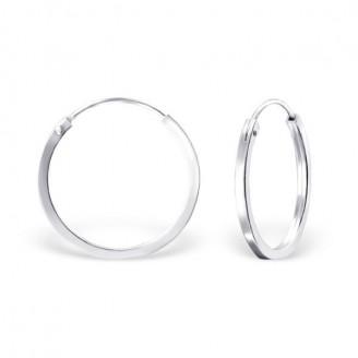 """Stříbrné kruhové náušnice """"Beáta"""". 1,5x20. Ag 925/1000"""