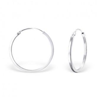 """Stříbrné kruhové náušnice """"Beáta"""". 1,5x25. Ag 925/1000"""