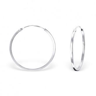 """Stříbrné kruhové náušnice """"Beáta"""". 1,5x30. Ag 925/1000"""