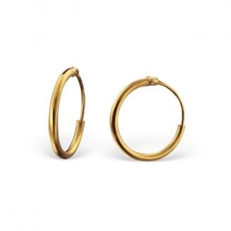 """1,2x12 Stříbrné pozlacené náušnice kruhy """"Valerie"""". Ag 925/1000"""