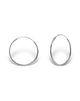 """1,2x25 Stříbrné náušnice kruhy """"Sonia"""". Ag 925/1000"""