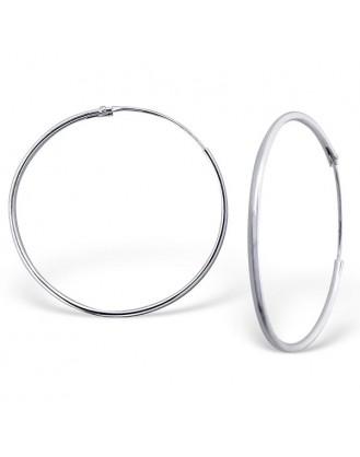 "1,2x30 Stříbrné kruhové náušnice ""Sonia"". Ag 925/1000"