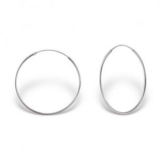"""Stříbrné náušnice kruhy """"Sonia"""". 1,2x35 Ag 925/1000"""