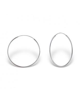 """1,2x35 Stříbrné náušnice kruhy """"Sonia"""". Ag 925/1000"""