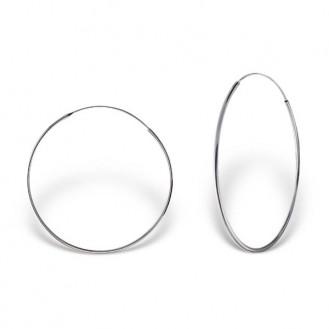 """Stříbrné náušnice kruhy """"Sonia"""". 1,2x45 Ag 925/1000"""