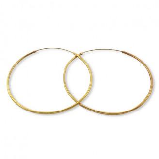 """1,6x50 Stříbrné pozlacený náušnice kruhy """"Endless"""". Ag 925/1000"""