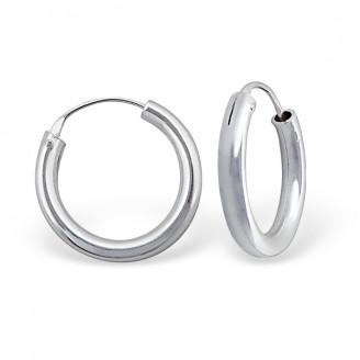 "Stříbrné náušnice kruhy ""Rebeka"". 3,0x20 Ag 925/1000"