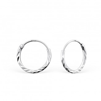 """Stříbrné náušnice kruhy """"Jennifer"""". 1,2x12. Ag 925/1000"""