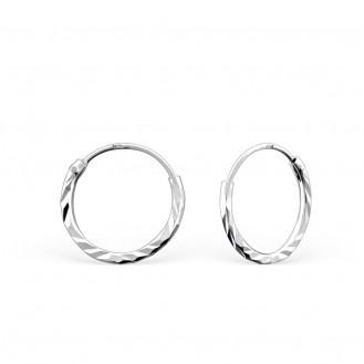 """1,2x12 Stříbrné náušnice kruhy """"Jennifer"""".  Ag 925/1000"""
