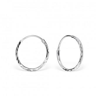 """Stříbrné náušnice kruhy """"Jennifer"""". 1,2x16. Ag 925/1000"""