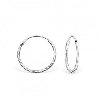 """Stříbrné kruhové náušnice """"Jennifer"""" 1,2x18. Ag 925/1000"""