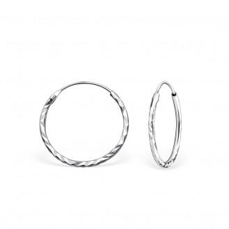 """1,2x18 Stříbrné kruhové náušnice """"Jennifer"""" Ag 925/1000"""