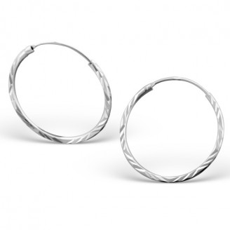 """Stříbrné kruhové náušnice """"Jennifer"""" 1,2x20. Ag 925/1000"""