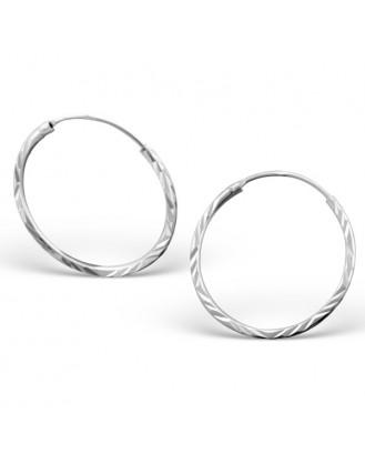 """1,2x20 Stříbrné kruhové náušnice """"Jennifer"""" Ag 925/1000"""