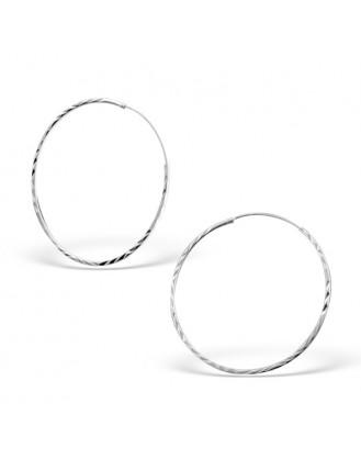 """1,2x40 Stříbrné kruhové náušnice """"Jennifer"""". Ag 925/1000"""