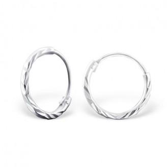 """1,2x10 Stříbrné kruhové náušnice """"Jennifer"""" Ag 925/1000"""