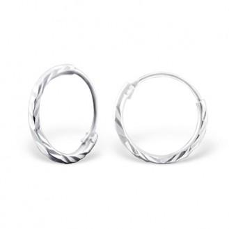 """Stříbrné kruhové náušnice """"Jennifer"""". 1,2x10. Ag 925/1000"""
