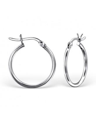 """1,5x18 Stříbrné kruhové náušnice """"Valerie"""". Ag 925/1000"""